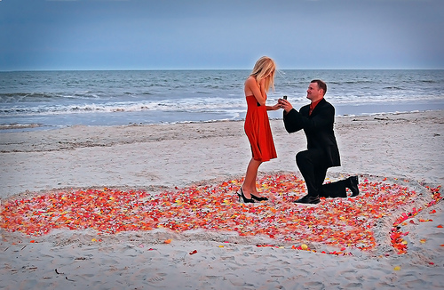 proposal idea beach