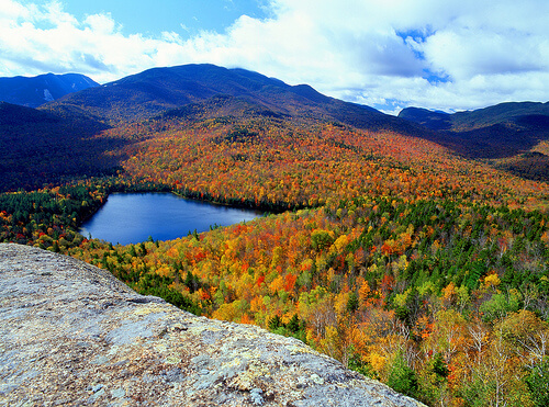 Colorful Adirondack Mountains, New York, NY